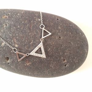 925 Sterling Silver Triangle Necklace